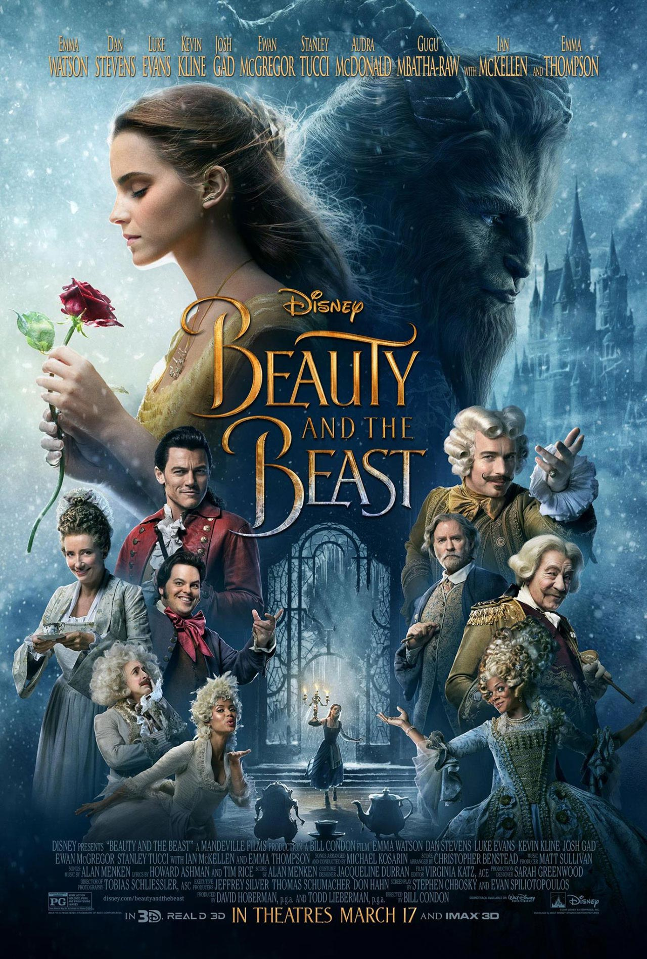 <h2>Beauty and the Beast (2015)</h2>Academy Award-winner Dave Elsey supervised the creature department for Disney\'s live-action version of \