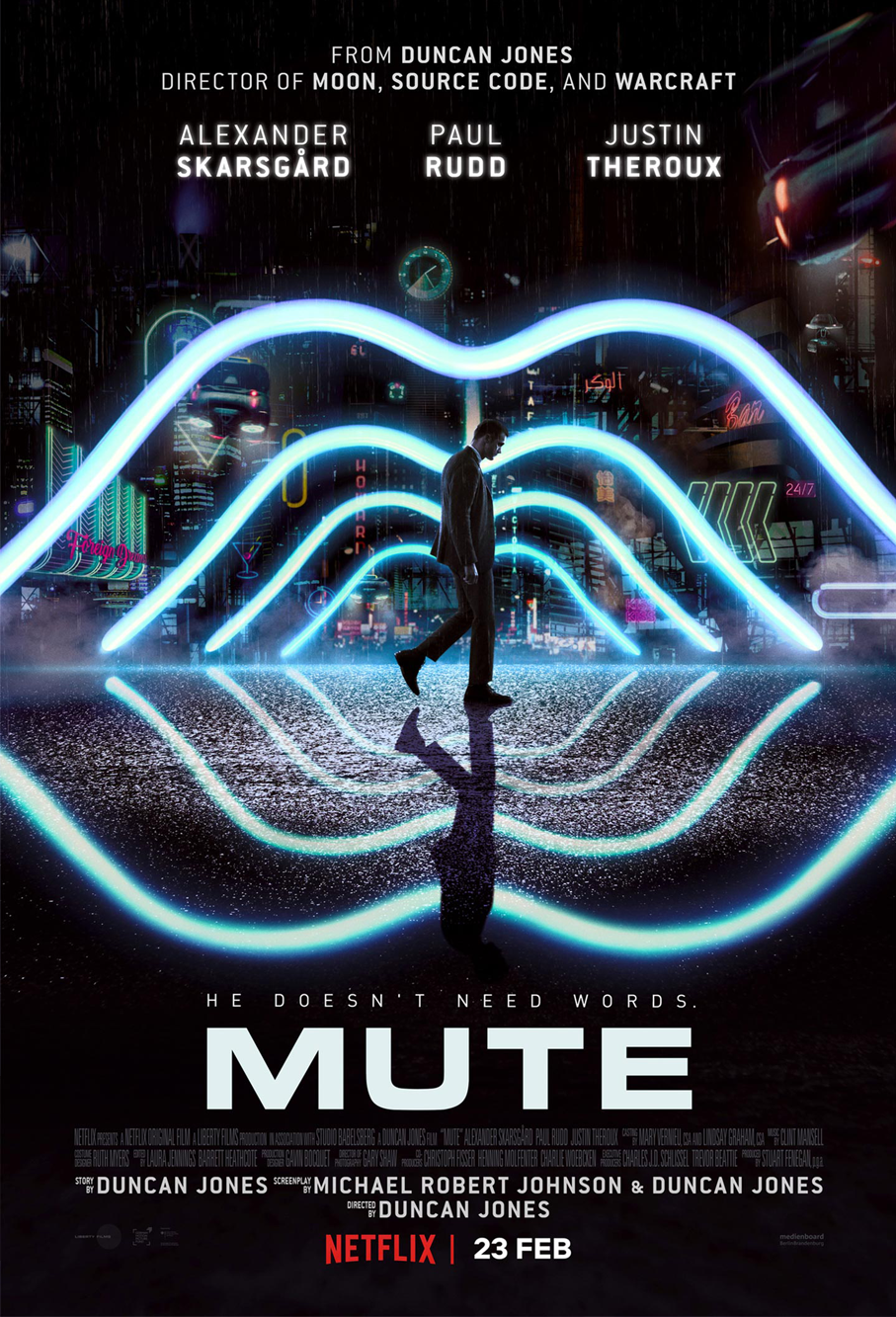<h2>Mute (2016)</h2>TC Effects in Berlin asked us to help produce and sculpt some silicone prosthetics and 3D transfers. Göran applied the first make-up together with Tamar from TC effects.