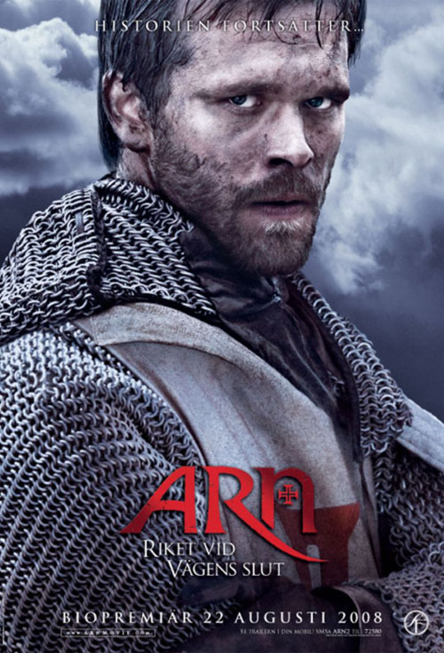 <h2>Arn 2 - The Kingdom at the End of the Road (2007)</h2>For the two Arn-movies EffektStudion created several effects: the lead character Arn\'s facial wound and scar on Swedish actor Joakim Nätterqvist. A mechanical headless body used for a few beheadings of kings. An arm stump and severed hand chopped off in a duel. An arrow-through-the-neck effect.