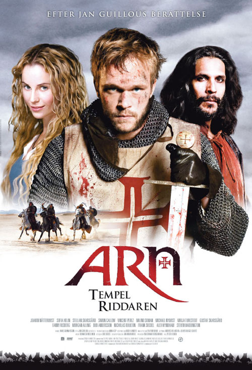 <h2>Arn - Tempelriddaren (2007)</h2>For the two Arn-movies EffektStudion created several effects: the lead character Arn\'s facial wound and scar on Swedish actor Joakim Nätterqvist. A mechanical headless body used for a few beheadings of kings. An arm stump and severed hand chopped off in a duel. An arrow-through-the-neck effect.