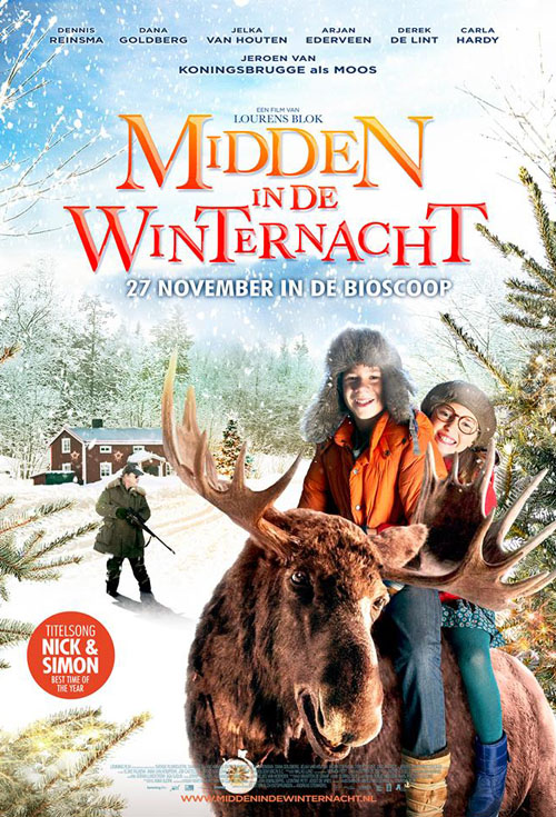 <h2>Midden In De Winternacht (2012)</h2>EffektStudion was contracted to create one of the lead characters of the film in the form of an animatronic moose. It was a fantastic opportunity to create a realistic animatronic animal that could not only talk but could also express emotion.