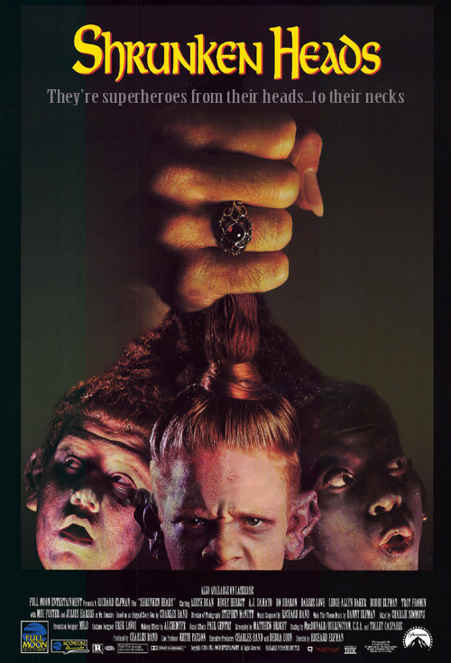 <h2>Shrunken Heads (1993)</h2>Full Moon Production\'s in-house effects company Alchemy FX created the effects for this film under Mike Deaks supervision. Göran worked for Alchemy FX on a few films assisting in different areas like molding, painting, hair work and general lab work.