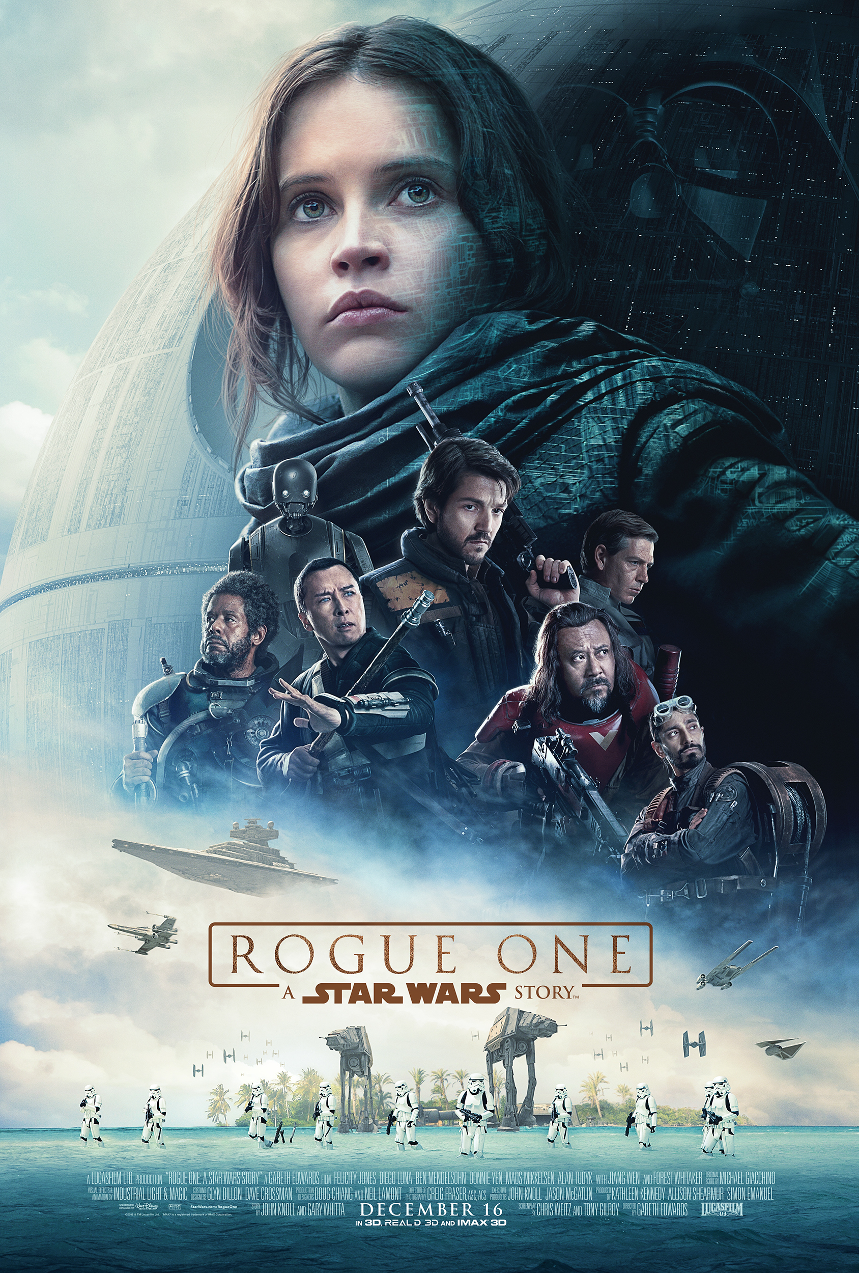 <h2>Rogue One: a Star Wars story (2015)</h2>Neal Scanlan supervised the creature department and Göran worked as part of his crew applying prosthetic makeups on-set.
