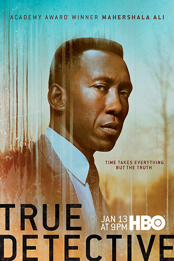<h2>True Detective 3 (2018)</h2>Mike Marino designed the flawless old age makeups for this series. Göran was flown in to Arkansas to apply lead actor, Oscar winner, Mahershala Ali\'s makeup.