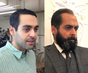 Actor Ardalan Esmaili in 2 different age make-ups for SVTs TV-series The dying detective