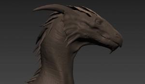 Dragon design made in Mudbox