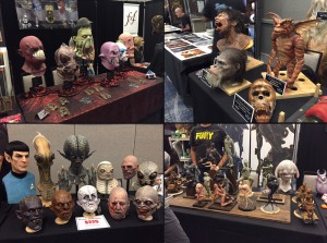 Masks at Monsterpalooza 2015 in Glendale, California