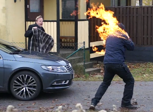 Swedish Wallander-film fire stunt